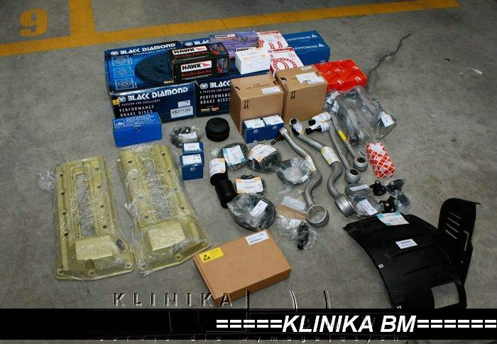 Alpina B10 V8 2001 - części wymienione